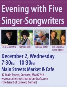 Main Streets Market Concert Poster December 2015