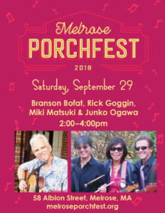 Melrose Porchfest, Melrose, MA, 2018
