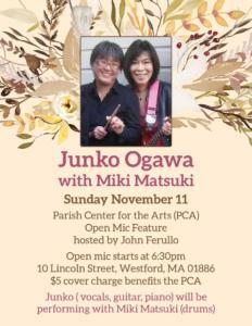 Junko Ogawa with Miki Matsuki, Parish Center for the Arts, Westford, MA 2018