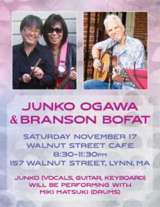 Junko Ogawa & Branson Bofat, Walnut Street Cafe, November, 2018